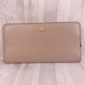 Coach Skinny Wallet - Taupe